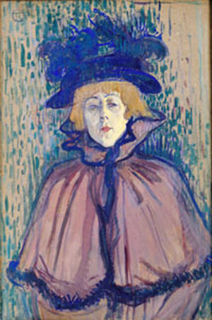Jane Avril, Oil On Panel by Henri De Toulouse Lautrec (1864-1901, France)