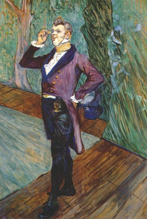 The actor Henry Samary, Oil by Henri De Toulouse Lautrec (1864-1901, France)