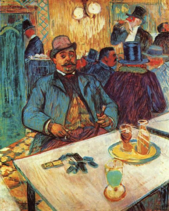Monsieur Boileau, Oil On Canvas by Henri De Toulouse Lautrec (1864-1901, France)