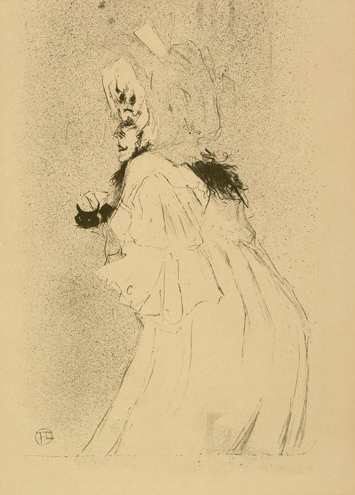 Miss May Belfort welcoming, 1895 by Henri De Toulouse Lautrec (1864-1901, France)