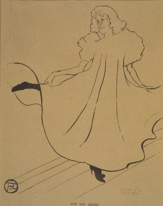 Miss May Milton, from Le Rire, 1895 by Henri De Toulouse Lautrec (1864-1901, France)