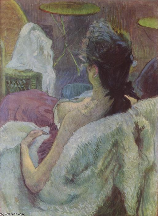 Ruhendes Modell, Oil On Canvas by Henri De Toulouse Lautrec (1864-1901, France)