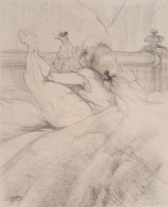 In Bed, 1898 by Henri De Toulouse Lautrec (1864-1901, France)