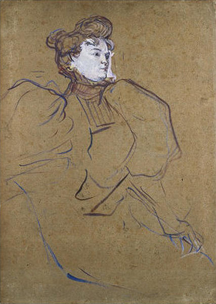 Portrait of Misia Natanson by Henri De Toulouse Lautrec (1864-1901, France)