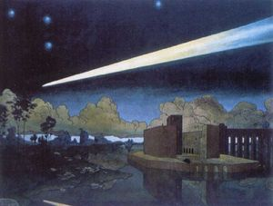 Heorhiy Narbut - Landscape with a comet