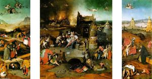 Hieronymus Bosch - Triptych: The Temptation of St. Anthony