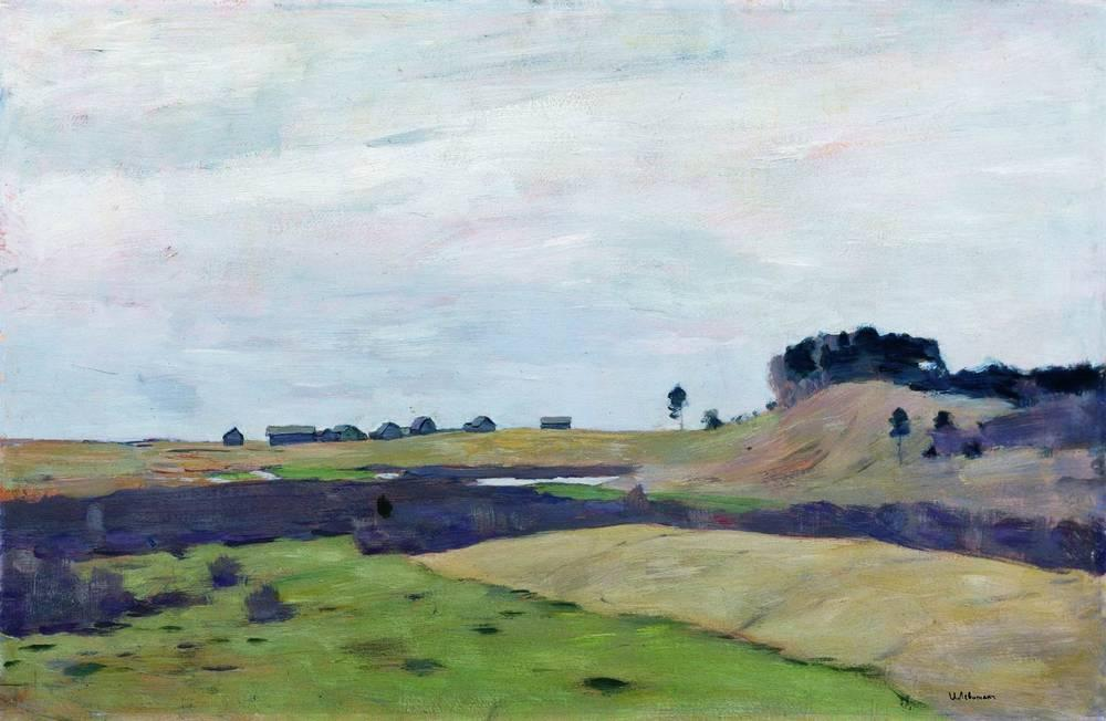 Buy Museum Art Reproductions | Fields, 1899 by Isaak Ilyich Levitan (1860-1900, Russia) | ArtsDot.com