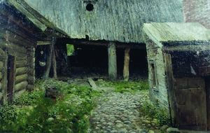 Isaak Ilyich Levitan - Old yard. Plyos.