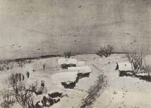 Isaak Ilyich Levitan - Small village under the snow