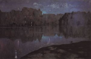 Isaak Ilyich Levitan - Night. Riverbank.