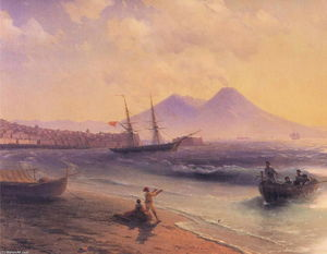 Ivan Aivazovsky - Fishermen Returning Near Naples