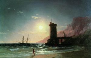Ivan Aivazovsky - Seascape with Moon