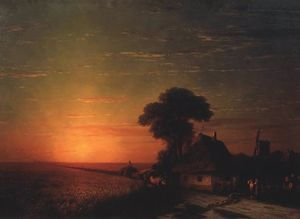 Ivan Aivazovsky - Sunset in Little Russia