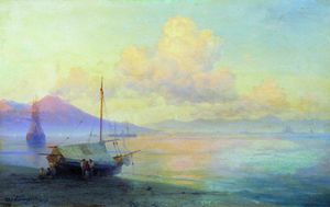 Ivan Aivazovsky - The Bay of Naples in the morning