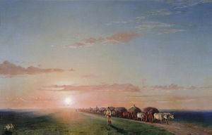 Ivan Aivazovsky - Ox train on the steppe