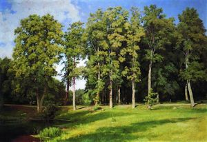 Ivan Ivanovich Shishkin - Grove by the Pond. Preobr..