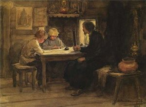 Ivan Vladimirov - In a lesson of credence with the sexton