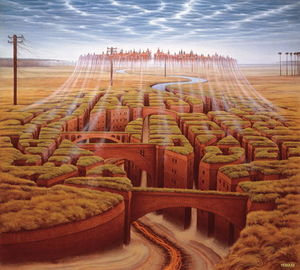 Jacek Yerka - City of death