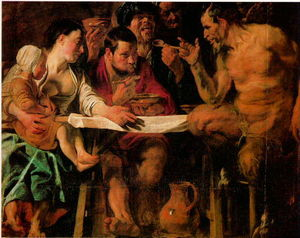 Jacob Jordaens - Satyr and Peasant