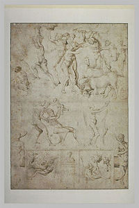 Jacopo Bellini - Sketch of figures and scenes from the antique age