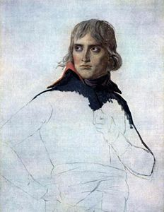Jacques Louis David - Unfinished portrait of General Bonaparte