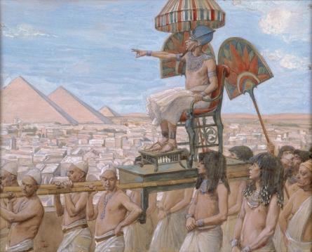 Buy Museum Art Reproductions : Pharaoh Notes the Importance of the Jewish People by James Jacques Joseph Tissot (1836-1902, France) | ArtsDot.com