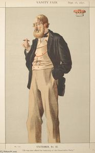 James Jacques Joseph Tissot - Statesmen No.930 Caricature of The Duke of Rutland