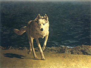 Jamie Wyeth - Wolf Dog
