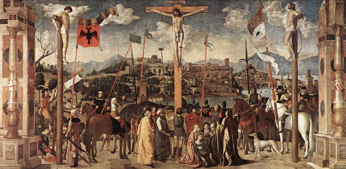 Crucifixion, 1500 by Jan Provoost (1462-1529, Belgium)
