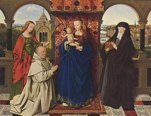 Jan Van Eyck - Virgin and Child with Saints and Donor