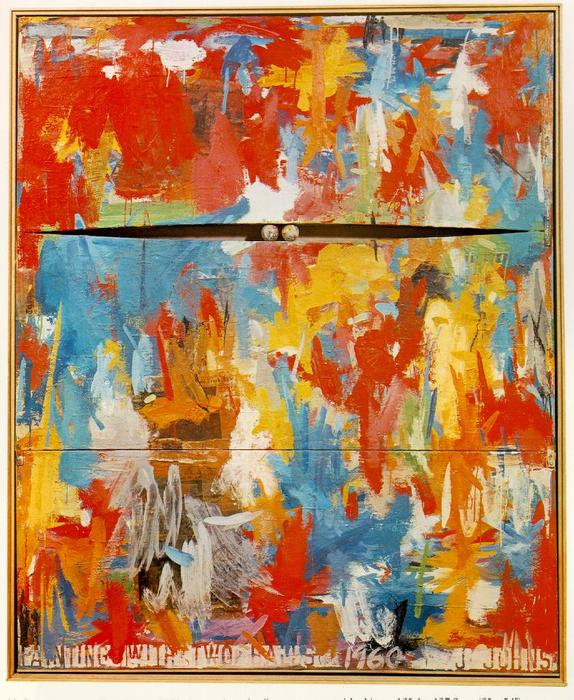 Painting with Two Balls by Jasper Johns | ArtsDot.com