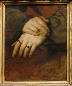 Jean Auguste Dominique Ingres - Study of a woman-s hands