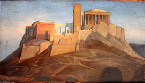 Jean Auguste Dominique Ingres - View of the Acropolis of Athens