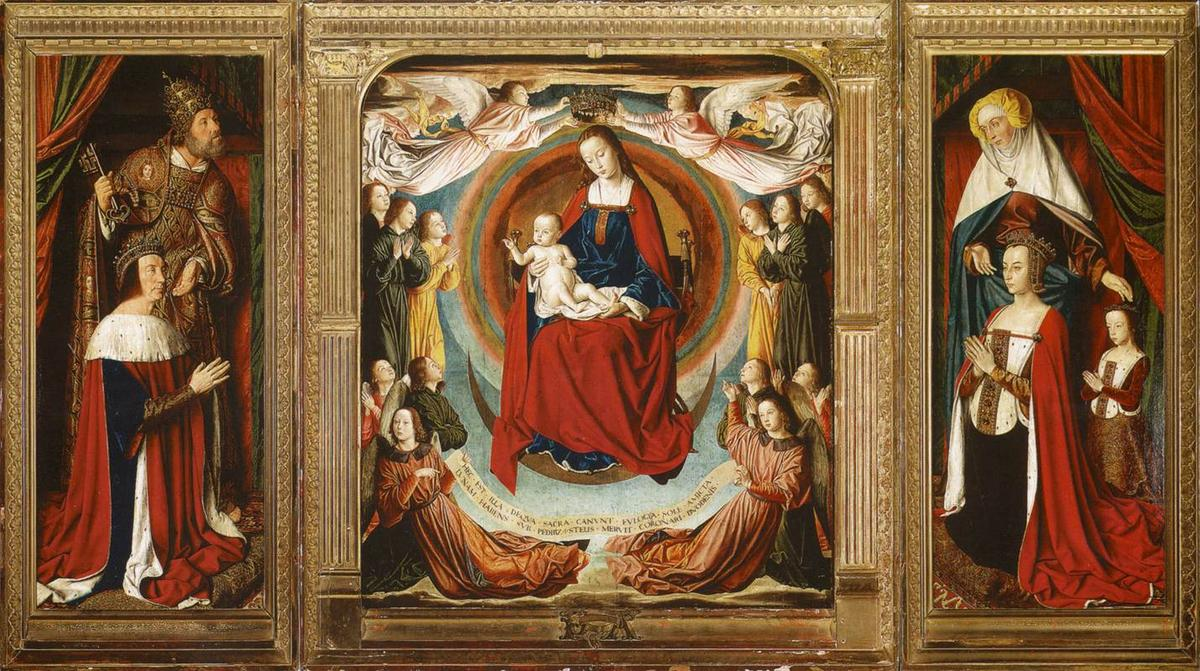 The Bourbon Altarpiece (The Moulins Triptych), 1498 by Jean Hey | Museum Art Reproductions | ArtsDot.com