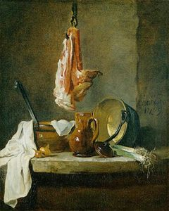 Jean-Baptiste Simeon Chardin - Still Life with a Rib of Beef