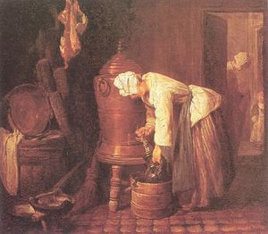 Jean-Baptiste Simeon Chardin - Woman Drawing Water from an Urn