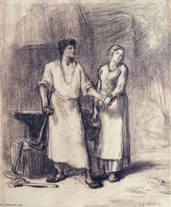 Jean-François Millet - The Blacksmith and His Bride