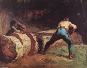 Jean-François Millet - The Wood Sawyers