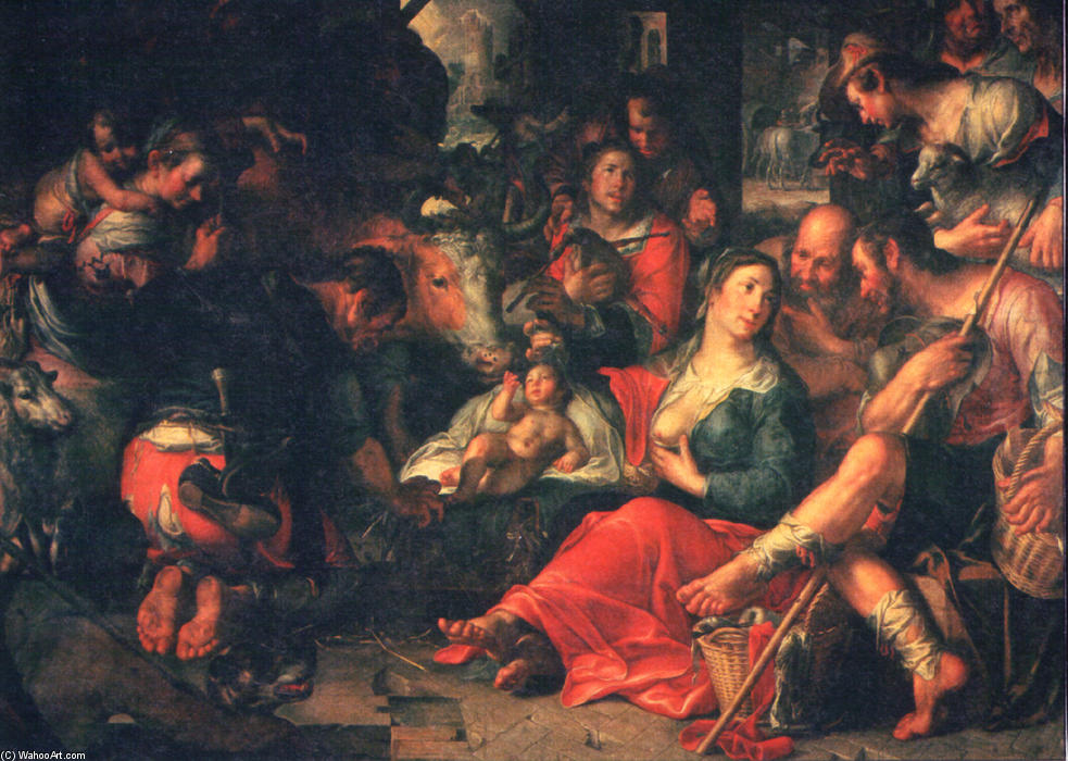 Adoration by the Shepherds by Joachim Wtewael (1566-1638, Netherlands)