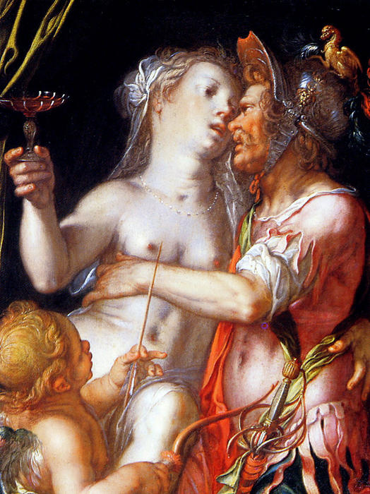 Aphrodite Ares and Eros Sun by Joachim Wtewael (1566-1638, Netherlands)