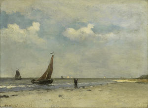 Johan Hendrik Weissenbruch - View of Seaside
