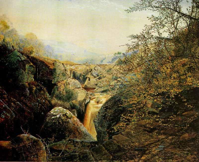 Colwith Force, 1869 by John Atkinson Grimshaw (1836-1893, United Kingdom) | Painting Copy | ArtsDot.com