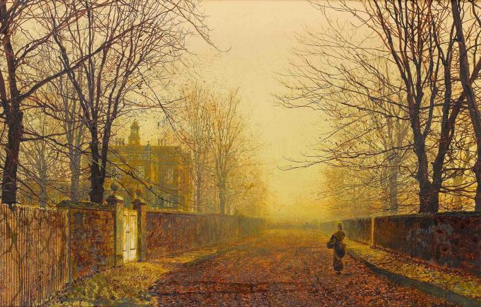 Golden Autumn by John Atkinson Grimshaw (1836-1893, United Kingdom)