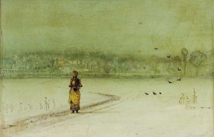 Order Oil Painting : In the winter by John Atkinson Grimshaw (1836-1893, United Kingdom) | ArtsDot.com