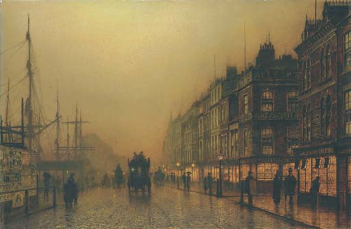 Reekie, Glasgow by John Atkinson Grimshaw (1836-1893, United Kingdom)
