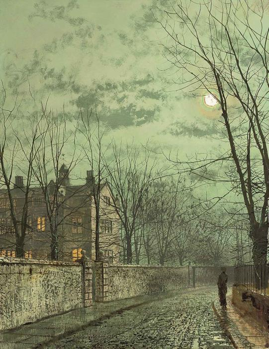 Under the Moonbeams by John Atkinson Grimshaw (1836-1893, United Kingdom)