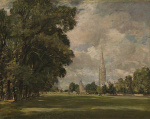 John Constable - Salisbury Cathedral from Lower Marsh Close
