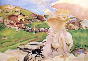 John Singer Sargent - In the Simplon Pass