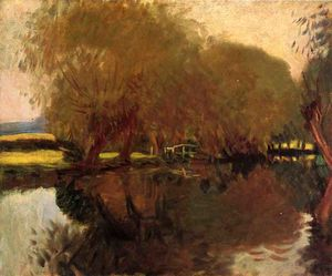 John Singer Sargent - A Backwater at Calcot Near Reading