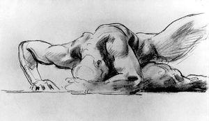 John Singer Sargent - Study of a figure for Hell